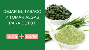 Dejar el tabaco y tomar algas para desintoxicar